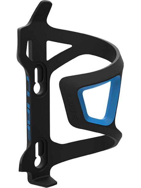 Cube HPP Left-Hand Sidecage Flaschenhalter schwarz/blau